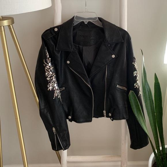 *Flash Sale*Rmvd Mon*OWO Vegan Leather Moto Jacket